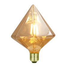 LED bollamp diamant amber