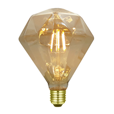 LED diamant bollamp amber